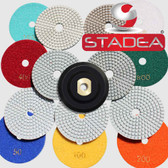 "5"" Pro WET/DRY Diamond Polishing Pad Set +Rubber Backer"