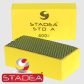 Stadea Diamond Hand Pads for Glass Granite Concrete Marble Stone Polishing, Grit 400