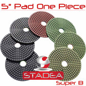 "5"" WET/DRY PRO Diamond Polishing Pads Granite Stone Set"