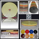 "4"" DIAMOND POLISHING PADS 5 Sets: 35 Pcs GRANITE MARBLE"