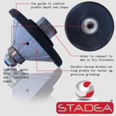 "STADEA Diamond Profile Wheel / Profile Grinding Wheel 45 degree / Bevel 25 MM 1"" high for Grinder Polisher Tile Granite marble Concrete Shaping/Diamond Profiling"