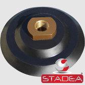 "5 Inch Hook and Loop Backing Pad Rigid Rubber Velcro Backing Pads Arbor 5/8"" 11 by STADEA - Series STD R"