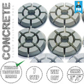 Stadea Diamond Floor Polishing Pads Set For Concrete Floor Polishing, Series CRT J