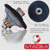 "Stadea Diamond Hand Profiler Wheel Ogee Granite Countertop Edge Profile, F30 1-1/4"""