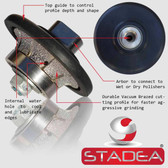 "3/16"" Stone Granite Diamond Profile Wheel For Hand Profiler Marble Demi Half Bullnose Radius B5 Edges Grinding by STADEA M14 Arbor"