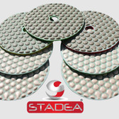 "Diamond Polishing Pads Set 4"" Dry For Granite Marble Stone Concrete Glass Polishing, by Stadea (Series Standard A)"