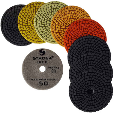 Stadea Series Ultra D, Diamond Polishing Pads Set Wet