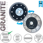 "Stadea Diamond Saw Blade & Grinding Wheel 5"" For Granite Quartz Dry Cutting Grinding"