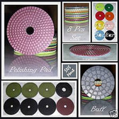 "3"" DIAMOND POLISHING PAD GRANITE MARBLE 8 PCS SET Super"