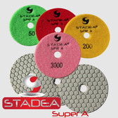"Stadea 3"" Dry Diamond Polishing Pads Granite Marble Concrete Polishing, Series Super A"