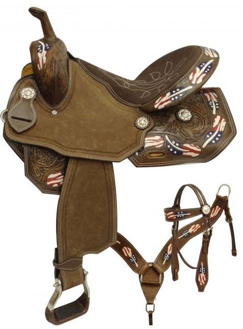 "15"" Barrel Saddle Set RWB"