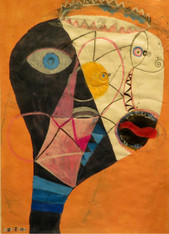 """Drama Queen - Mixed Media on Canvas Panel, 15 3/4 x 22"""""""