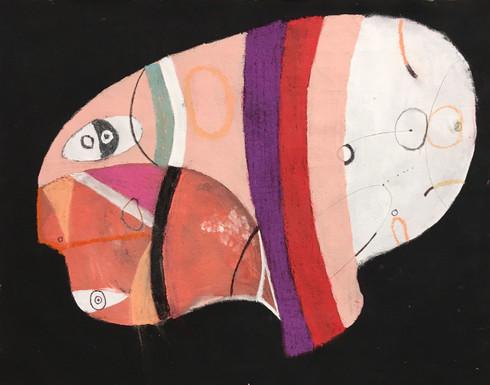 "Bubble Gum - Mixed Media on Canvas Panel, 15 x 19"""