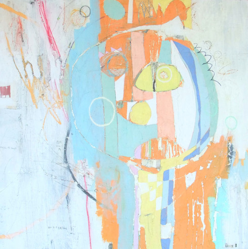 """God Is A Child -  Mixed Media on Canvas - Gallery Wrapped, 36 x 36"""""""