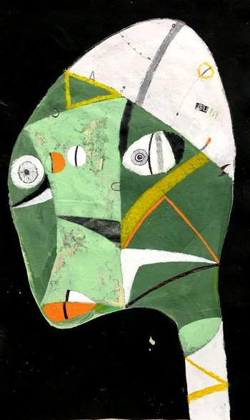 "Gum - Mixed Media on Canvas Panel, 11 x 17 1/2"""