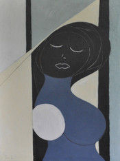 Midnight Dream - Acrylic & Pencil on Wood Panel.  Unframed.  24 x 18""
