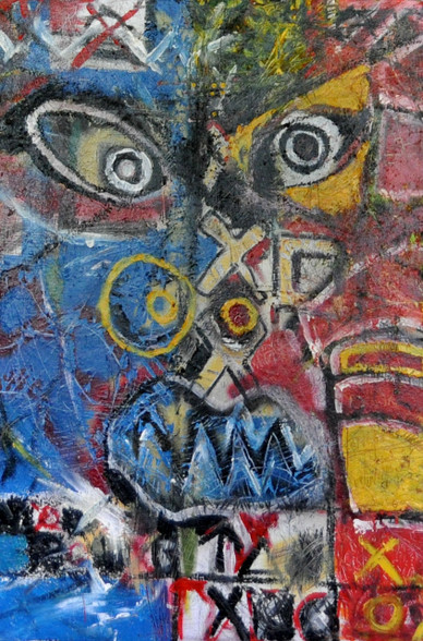 "Savage II - Mixed Media on Canvas - 48 x 36"""