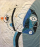 "Mr. Blue - Mixed Media on Canvas Panel, 17 3/8 x 21"""