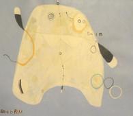 "Swim - Acrylic & Graphite Pencil on Canvas Panel, 13 3/4 x 15 3/4"""