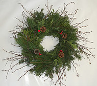 Mixed Holiday Birch Wreath