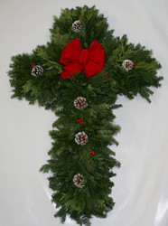 Mixed Balsam  Pine Christmas Cross