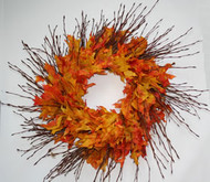 Birch Branch Oak Leaf Wreath