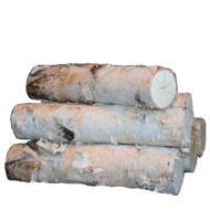 Large Fireplace White Birch Logs Sets