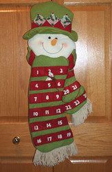 Snowman Head Advent Calendar