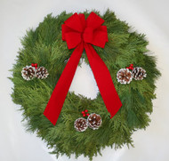 Cedar Pine Christmas Wreath