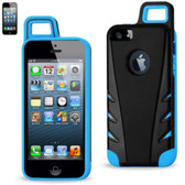 Reiko Protector Cover Tpu+Pc With Hook Iphone 5 Black Navy