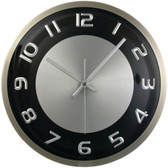TIMEKEEPER 300RAB 11.5 Round Wall Clock with Brushed Metal Case