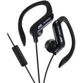 JVC HAEBR80B Sport-Clip In-Ear Ear-Clip Headphones with Microphone & Remote (Black)