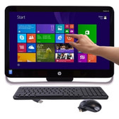 HP Pavilion 21-h013w TouchSmart 21.5 Pentium G3220T Dual-Core 2.6GHz All-in-One PC - 4GB 1TB DVDRW/W8.1/Cam - B