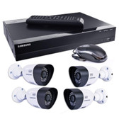 Samsung SDH-B3040 4-Ch 1TB 720p HD DVR Video Security System w/4 Night-Vision & Weatherproof 720 Line Resolution Cameras