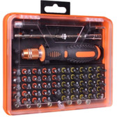 53-Piece Screwdriver Tool Kit w/Assorted Bits Tweezers 2 Extension Bars & Case - WT8027