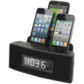DOK CR18 3-Port Smartphone Charger with Speaker & Alarm Clock