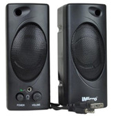 iMicro SP-IMD693 2-Piece 2 Channel Multimedia Speaker System w/Headphone Jack (Black)