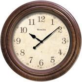 WESTCLOX 33883P 10 Realistic Woodgrain Wall Clock