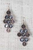 Greek Coin Chandelier Earrings