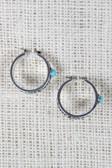 Filigree Hoop Turquoise Stone Earrings