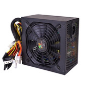 Logisys 650W 20+4-pin ATX Power Supply w/SATA PCIe SLI/CrossFire-Ready & Large 140mm Cooling Fan for Quiet Performance