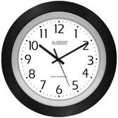 LA CROSSE TECHNOLOGY 404-1225 10 Black & Silver Atomic Wall Clock