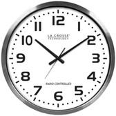 LA CROSSE TECHNOLOGY 404-1220 20 Brushed Aluminum Atomic Wall Clock