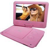 SYLVANIA SDVD9020B-PINK 9 Portable DVD Players with 5-Hour Battery (Pink)