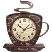 WESTCLOX 32038 Coffee Time 3-Dimensional Wall Clock