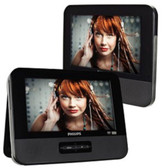 9 Philips PD9012/37 Widescreen Portable DVD Player w/Dual Screens (Black)