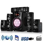 beFree Sound 5.1 Channel Surround Sound Bluetooth Speaker System in Black - BFS510C