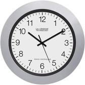 LA CROSSE TECHNOLOGY WT-3102S 10 Silver & Black Atomic Wall Clock