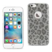 Reiko Iphone 6/6S 4.7Inch Glitter Glam Craystal Bling Tpu Case Leopard Silver