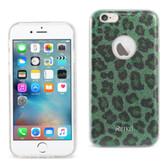 Reiko Iphone 6/6S 4.7Inch Glitter Glam Craystal Bling Tpu Case Leopard Green